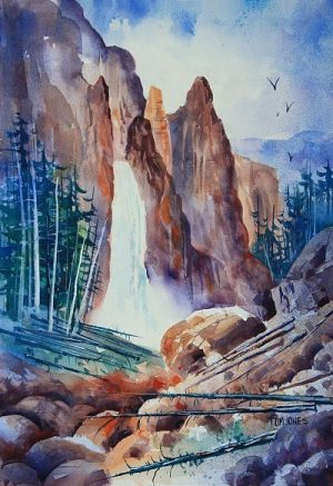 Tower Falls Original Painting